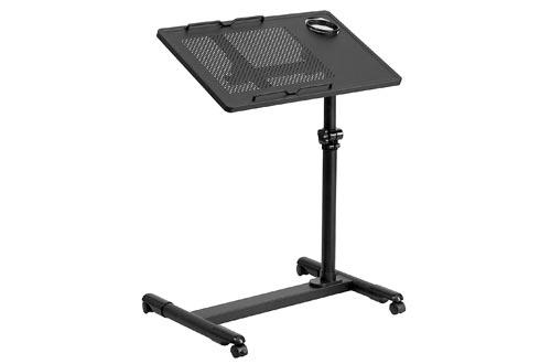 Flash Furniture Black Adjustable Height Steel Mobile Computer Desk, NAN-JG-06B-BK-GG