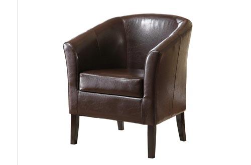 "Linon Home Dcor Linon Home Decor Simon Club Chairs, 33"" x 28.25"" x 25.5"", Brown"