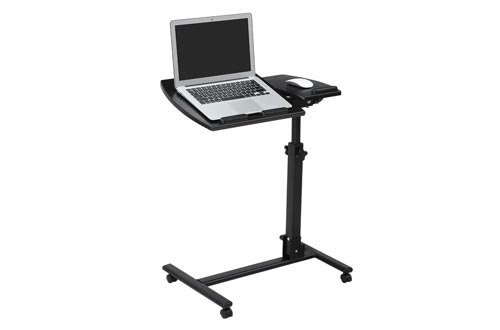 LANGRIA Laptop Rolling Carts Table Height Adjustable Mobile Laptop Stand Desk