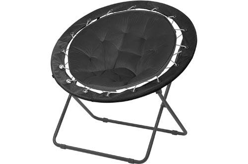 "Urban Shop Bungee Saucer Chairs, 30"", Black"