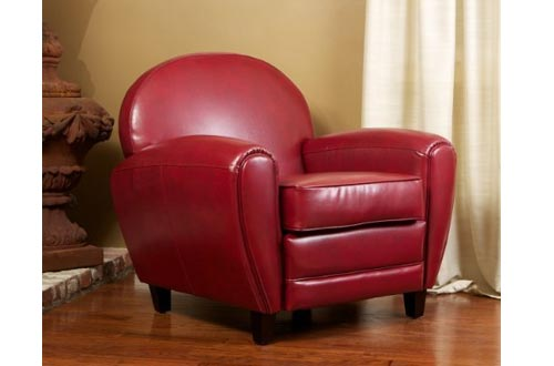 Christopher Knight Home David Club Chairs, Ruby Red