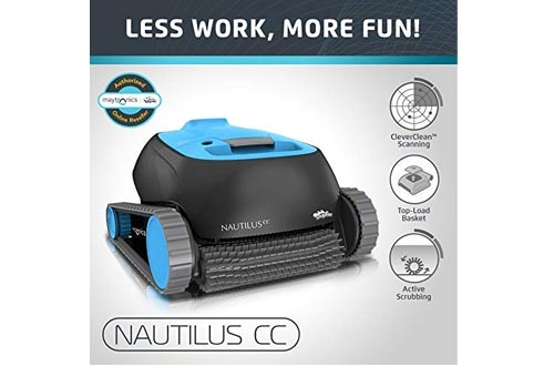 Dolphin Nautilus CC Automatic Robotic Pool Cleaners with Large Capacity Top Load Filter Basket Ideal for Swimming Pools up to 33 Feet