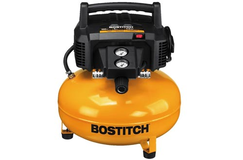 BOSTITCH Pancake Air Compressors, Oil-Free, 6 Gallon, 150 PSI (BTFP02012)