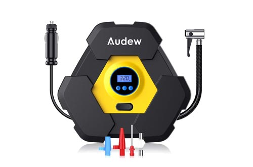 Audew Portable Air Compressors Pump, Auto Digital Tire Inflator, 12V 150 PSI Tire Pump for Car, Truck, Bicycle, and Other Inflatables