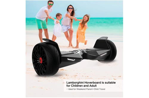 "LAMBORGHINI TwoDots Hoverboard 8.5"" with App Glyboard Corse and Bluetooth Speaker LED Lights Two-Wheel Balancing Electric Hover Board Scooter for Adult by UL2272 Certified"