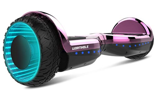 "WORMHOLE Off Road Hoverboard Dual Motors Electric Self Balancing Scooter 6.5"" Two Wheel Self Balancing Hoverboard"