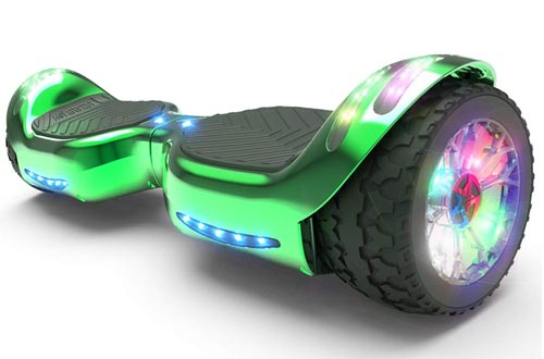 HOVERSTAR All-New HS2.0 Hoverboard All-Terrain Two-Wheel Self Balancing Flash Wheel Electric Scooter with Wireless Bluetooth Speaker