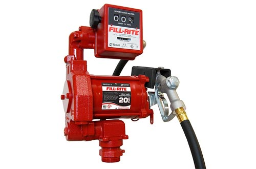 Fill-Rite FR701V 115V 20GPM Fuel Transfer Pumps with Discharge Hose, Manual Nozzle, & Mechanical Gallon Meter