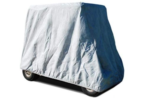 CarsCover HD Waterproof Golf Cart Cover 2+2 Passenger 5 layer storage covers For Yamaha, Club Car, EZ Go (Fit up to 108 inch long)