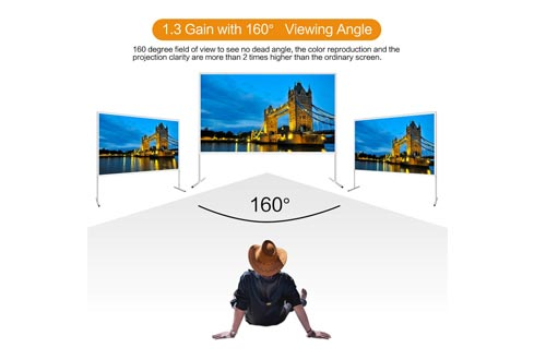 120 inch Projector Screen with Stand -EZAPOR 16:9 290×168CM Portable Foldable Outdoor Movie Home Theater Projection Screens Assembling