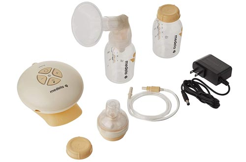 Medela, Swing, Single Electric Breast Pumps, Compact and Lightweight Motor, 2-Phase Expression Technology, Convenient AC Adaptor or Battery Power, Single Pumping Kit, Easy to Use Vacuum Control