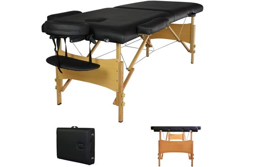 "New 84"" Black Portable Massage Tables w/Free Carry Case T1 Chair Bed Spa Facial"