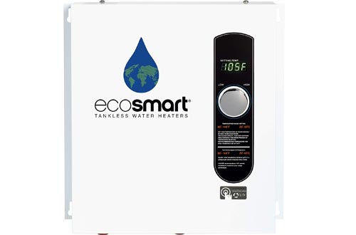 EcoSmart ECO 27 Electric Tankless Water Heaters, 27 KW at 240 Volts, 112.5 Amps with Patented Self Modulating Technology