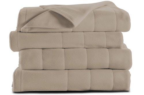Sunbeam Heated Blankets | Microplush, 10 Heat Settings, Mushroom, King - BSM9KKS-R772-16A00