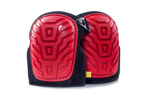 Professional Knee Pads - Easy to WEAR Heavy Duty Memory Foam Padding, Comfortable Gel Cushion, Strong Straps FITS All, Adjustable Easy-Fix Clips - Best