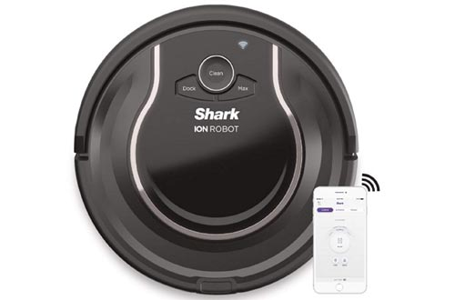 Shark ION Robot Vacuums WIFI-Connected, Voice Control Dual-Action Robotic Vacuum Carpet and Hard Floor Cleaner, Works with Alexa (RV750)