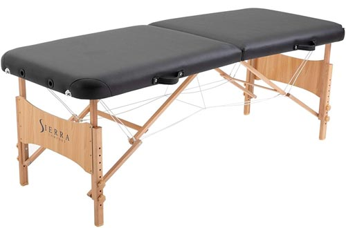 SierraComfort Basic Portable Massage Tables, Black