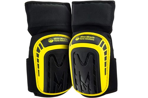 Premium Knee Pads For Hard Workers (Thigh Support Anti-Slip Band) Comfortable Cushioned Kneeling Gear that Stays in place, Heavy-Duty Construction Kneepad, Non-Slip Gel Knee pads, Gardening Kneepads.