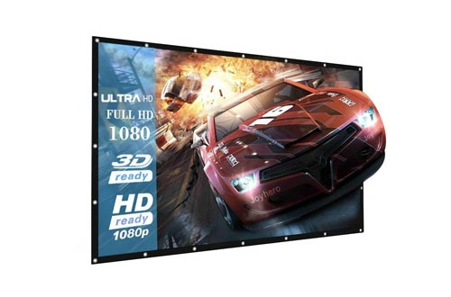 Projector Screens, 16:9 Portable Outdoor Projector Screen Suitable for HD TV Sports Movies Presentations (120 inch)