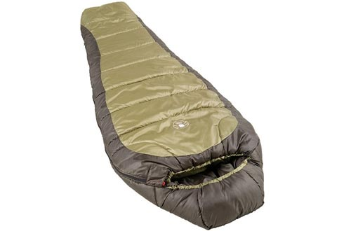 Coleman 0°F Mummy Sleeping Bag for Big and Tall Adults   North Rim Cold-Weather Sleeping Bags, Olive