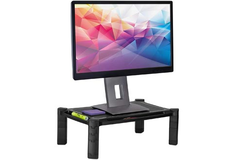 Mount-It! Desktop Computer Monitor Riser - Height Adjustable Tabletop Stands Shelf