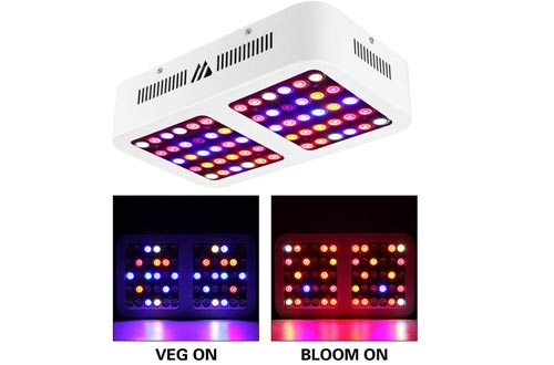LED Grow Light 600W Full Spectrum Grow Lights Reflector for Indoor Plants with Veg and Bloom Dimmable Switch