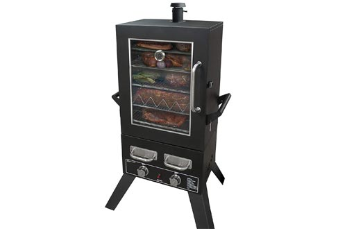 "Smoke Hollow PS4415 Propane Smokers, 33"" x 24.5"" x 60"", Black"