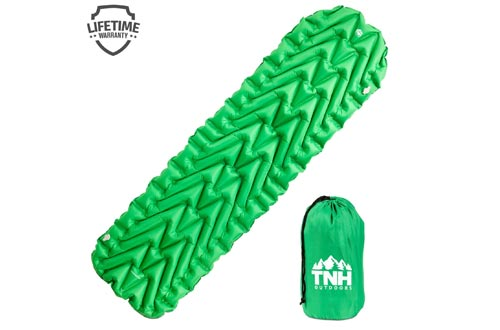 Pet Outdoors Inflating Lightweight Sleeping Pads with 2 Air Chambers Compact Size Inflatable Air Mat