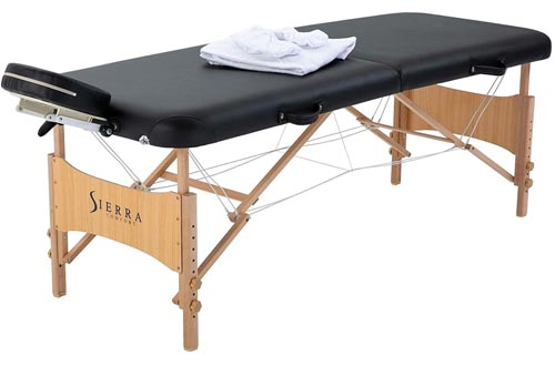 Sierra Comfort All Inclusive Portable Massage Tables, Black