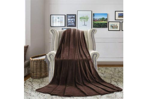 H.VERSAILTEX High Stretch Rich Velvet Plush Sofa Cover/Loveseat Furniture Cover, Machine Washable Suede Fabric Stay in Place, 2 Seater,Cocoa Brown