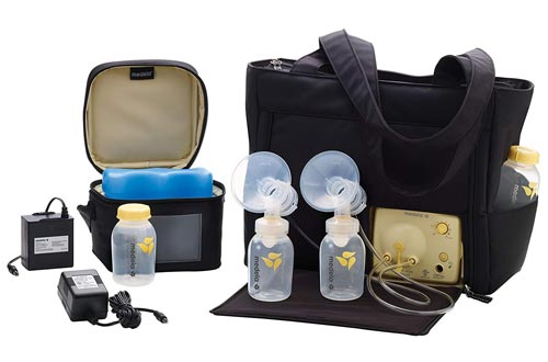 Medela Pump in Style Advanced with On the Go Tote, Double Electric Breast Pumps, Nursing Breastfeeding Supplement, Portable Battery Pack, Sleek Microfiber Tote Bag included with Breastpump