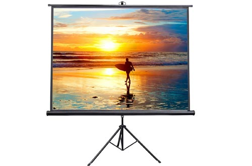 """VIVO 100"""" Portable Indoor Outdoor Projector Screens, 100 Inch Diagonal Projection HD 4:3 Projection Pull Up Foldable Stand Tripod (PS-T-100)"""