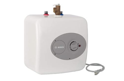 Bosch Electric Mini-Tank Water Heaters Tronic 3000 T 2.5-Gallon (ES2.5) - Eliminate Time for Hot Water - Shelf, Wall or Floor Mounted