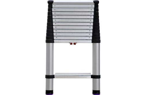 Telesteps 1600EP OSHA Compliant 16 ft Reach Professional Wide Step Telescoping Extension Ladders
