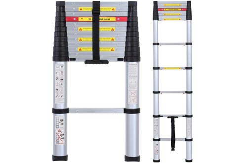 Lionladder EN131 8 FT Telescoping Ladders Aluminum Telescopic Extension Tall Multi Purpose