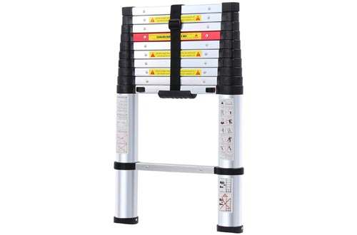 WolfWise Telescoping Ladders Aluminum Telescopic Extension Tall Multi Purpose